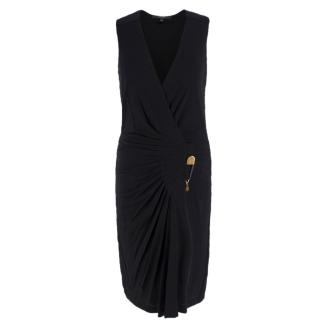 Gucci black pleated Safety Pin Dress