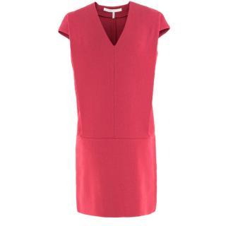 Victoria Victoria Beckham Textured Wool-Crepe Shift Dress