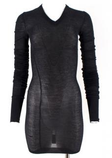 Louis Vuitton Dark Grey Cashmere Blend Long-Sleeved Dress