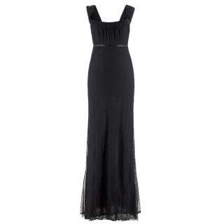 Gucci black-tulle gown