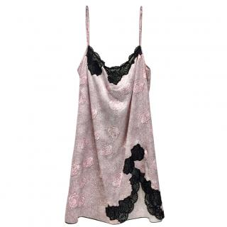 Cotton Club Couture Rose Satin & Leavers Lace Chemise