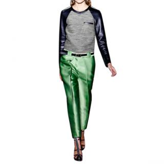 Phillip Lim tweed and leather top