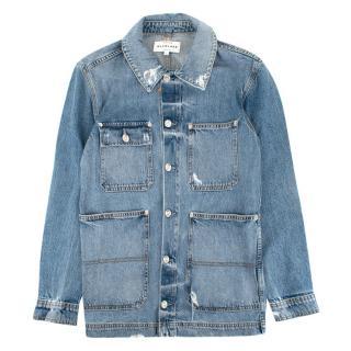 SLVRLAKE Worker Light-Wash Denim Jacket