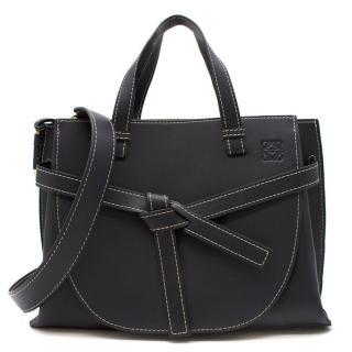 Loewe Gate Midnight blue leather tote bag