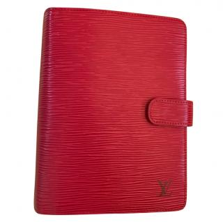 Louis Vuitton Red Epi Leather Diary Agenda Medium