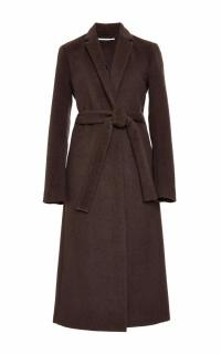 Rosetta Getty brown angora melton tailored coat - New Season