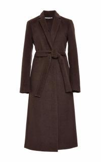 Rosetta Getty brown angora melton tailored coat - New Season