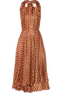 The Row Loam printed gazar dress