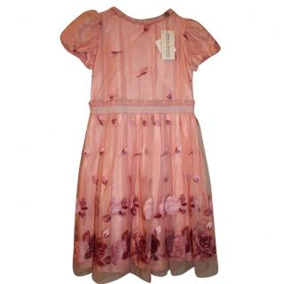 I Pinco Pallino Pink Embroidered Dress