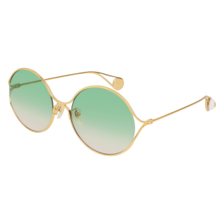 Gucci pearlescent green lens round sunglasses