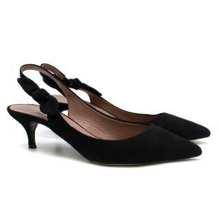 Tabitha Simmons Rise black suede point-toe pumps