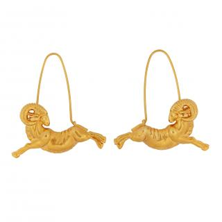 Givenchy Aries Zodiac Ram Earrings