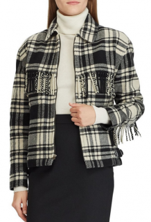 Polo Ralph Lauren Faye fringe-trimmed plaid shirt - AW18