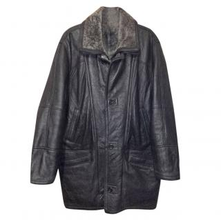 Werther International Germany Shearling and Leather Coat