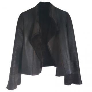 Joseph shearling biker jacket