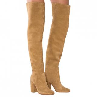 Polo Ralph Lauren Emmalyn Tan-Brown Thigh-High Boots
