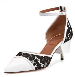 Givenchy Ranelle Leather & Lace Screw-heel Pumps