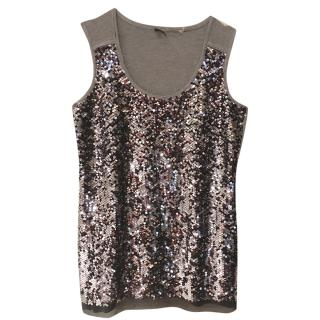 Elie Tahari sequined tank top