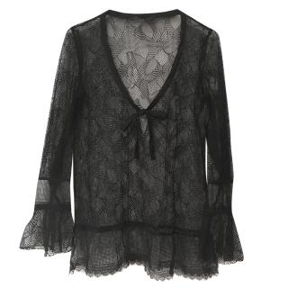Kristina Ti V-neck lace top