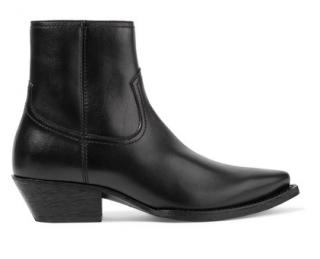 Saint Laurent Lukas black leather ankle boots
