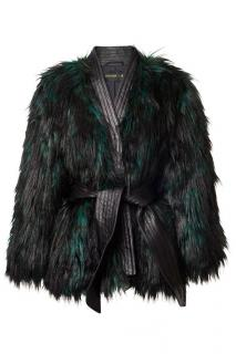 Balmain x H&M Faux-Fur Coat