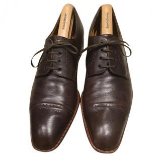 A.Testoni Brown Leather Brogues