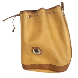 Lancel Vintage Mustard Bucket Bag