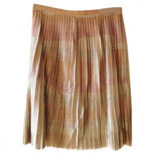 Dior Pleated Lurex skirt
