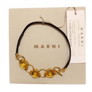 Marni octagonal stones necklace