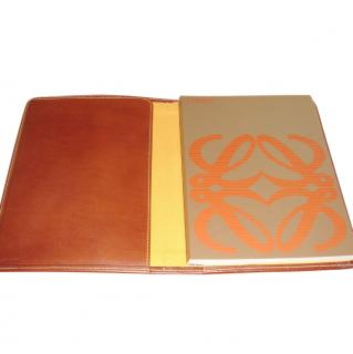 LOEWE leather and suede notebook
