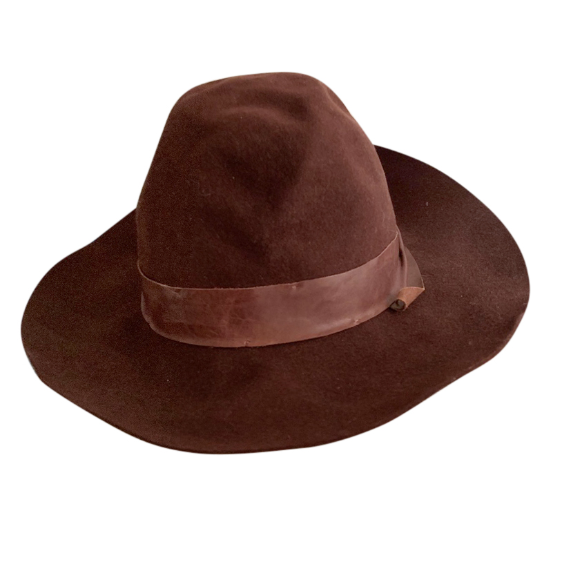 Brunello Cucinelli Suede & Leather Hat