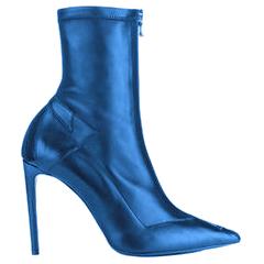 Roland Mouret Roxy Roland Blue Leather Boots