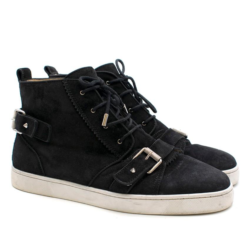 d377dbf97 Christian Louboutin Nono Strap Veau Velours Sneakers   HEWI London