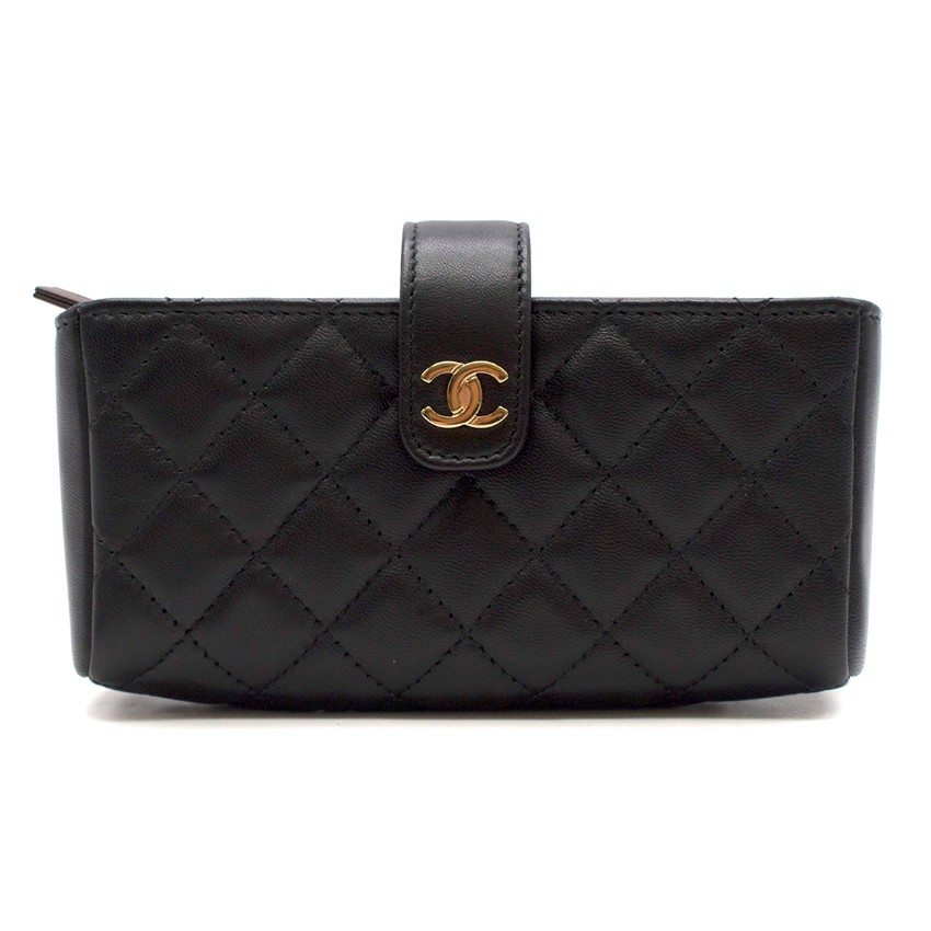 Chanel quilted-leather coin purse