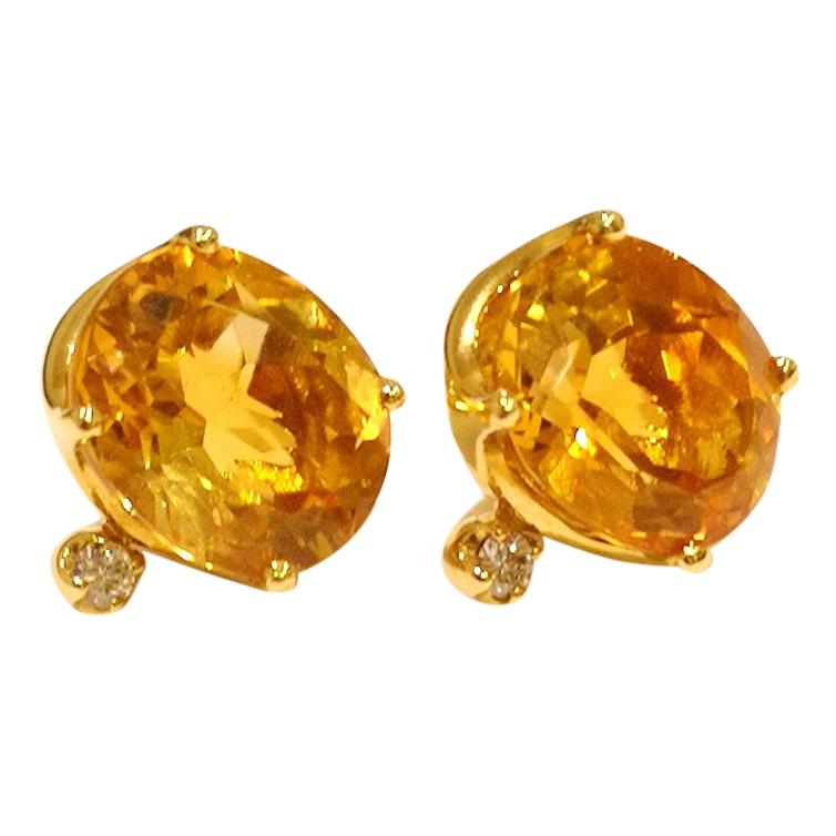25a52b03bcacf H Stern Citrine & Diamond Earrings 18ct Gold