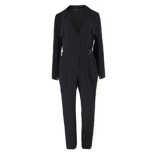 Gucci black silk-blend jumpsuit