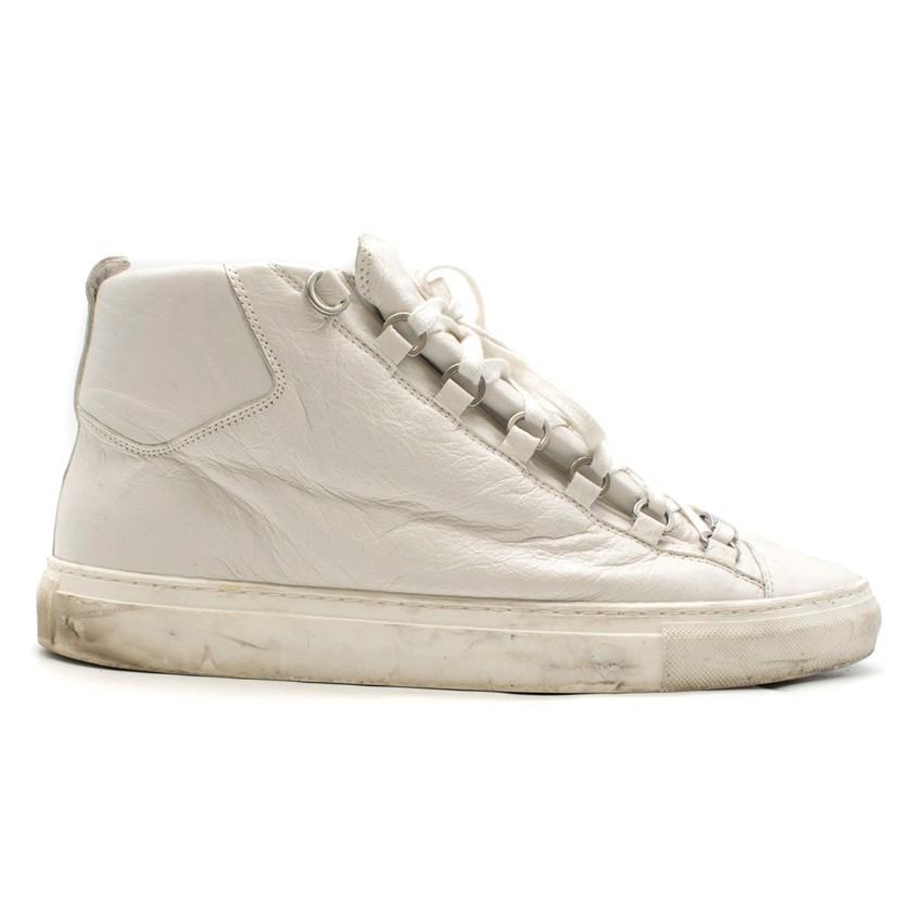 db09add00dec Balenciaga Arena white high-top leather trainers. 28. 12345678910