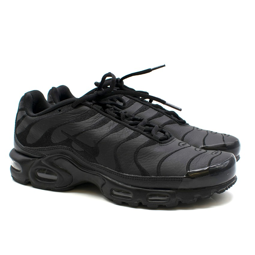 newest collection c7738 a29be SL (Chris S) Nike Black Air Max Plus Embroidered-Leather Trainers