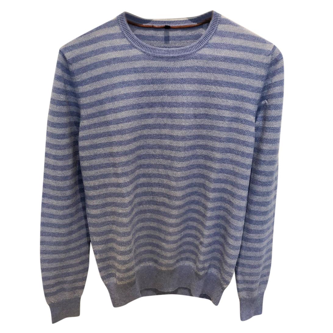 Loro Piana Blue Striped Silk & Cashmere Sweater