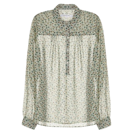 Gerard Darel Sheer Floral Shirt