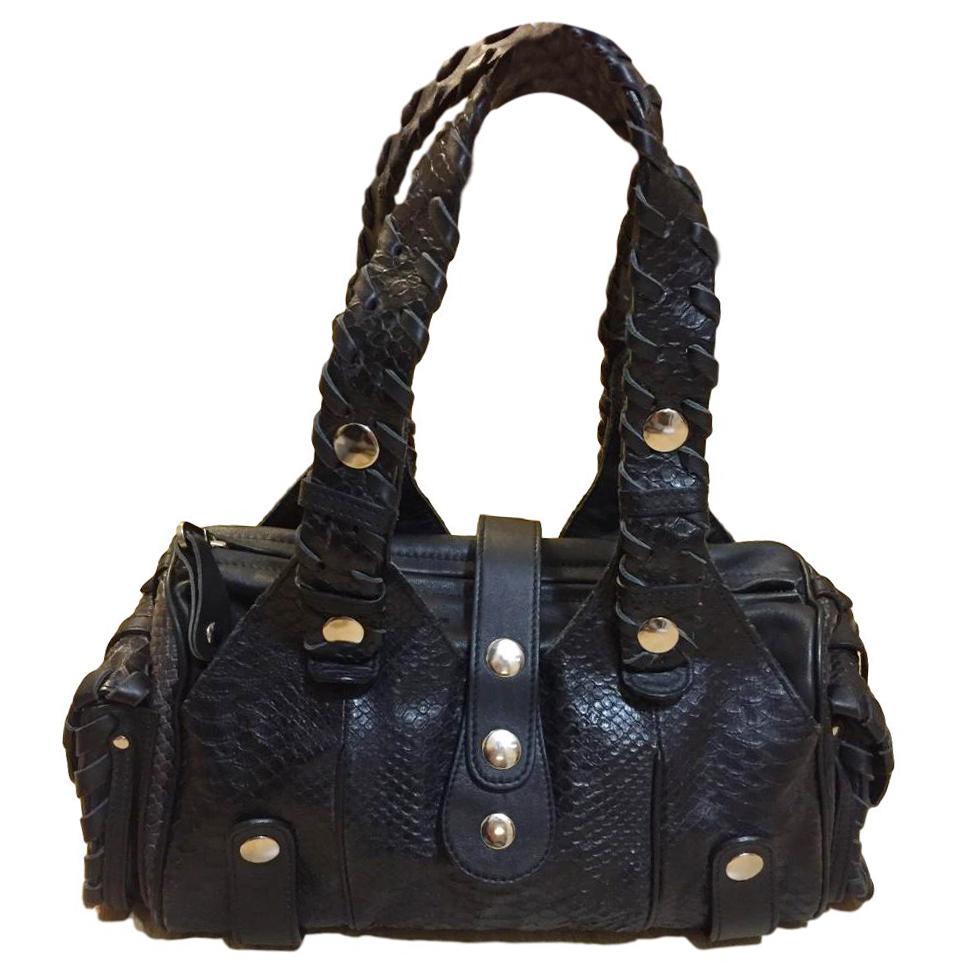 Chloe Python Black Shoulder Bag  064cd6466225