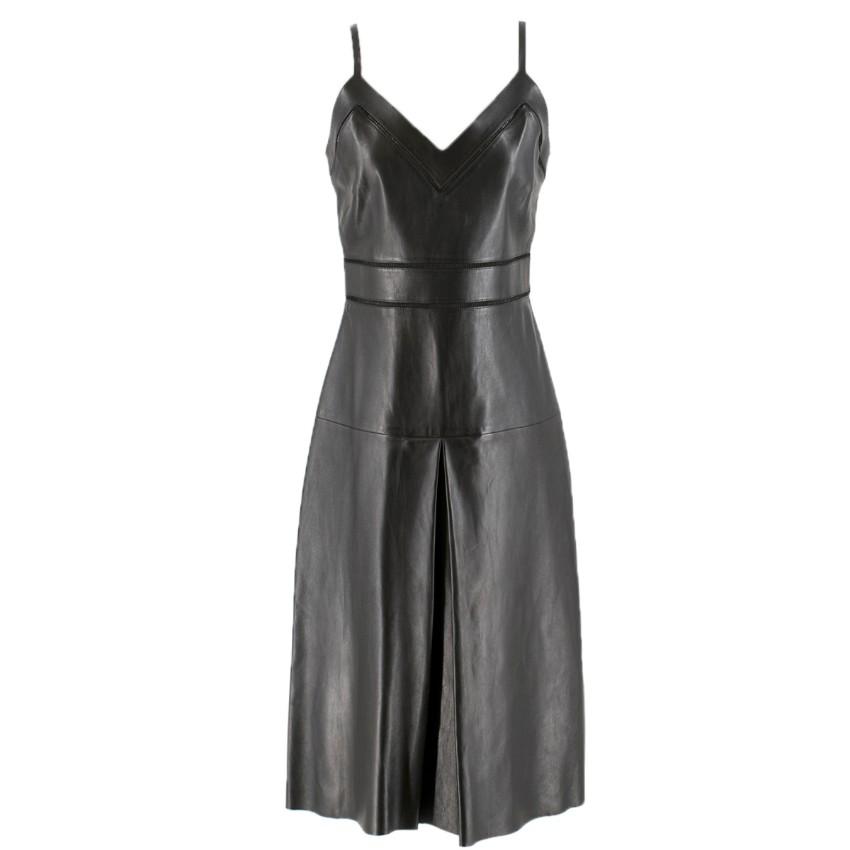 Gucci jour echelle black leather dress
