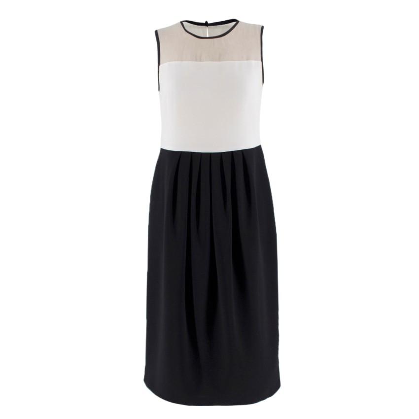 MaxMara Studio Monochrome Sleeveless Dress