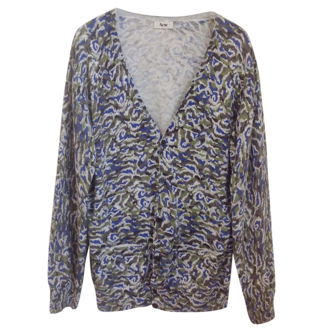 Acne abstract print cardigan