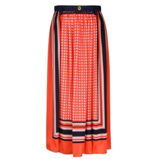 Michael Michael Kors Contrasting Polka Dot Midi Skirt
