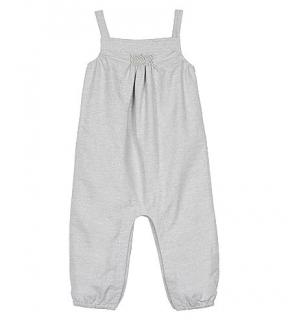 The White Little Company Glitter Silver Dungarees