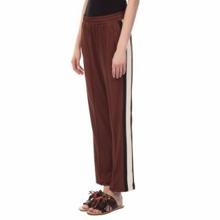 Ganni Dubois Polo striped-knit track pants - Sold Out