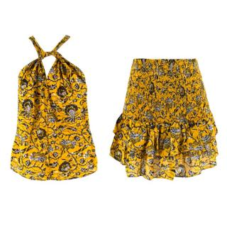 Isabel Marant Etoile Floral Print Two-Piece Skirt & Top