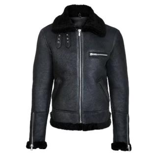 SU Sudio SSD-601 Lammy black shearling jacket - New Season