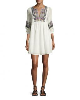 Ba&sh 'Magda' Embroidered Cotton Dress